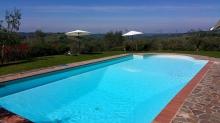 Toskana-Ferienwohnung im Chianti mit Panoramapool