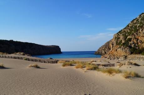 feiner Sandstrand Cala Domestica, Sardinien