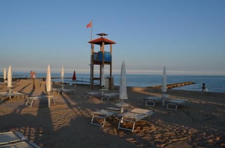 feiner Sandstrand Porto Santa Margarita, Caorle, Venetien