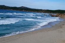 feiner Sandstrand Rena Majore, Sardinien