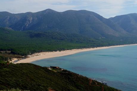 feiner Sandstrand Portixeddu, Sardinien
