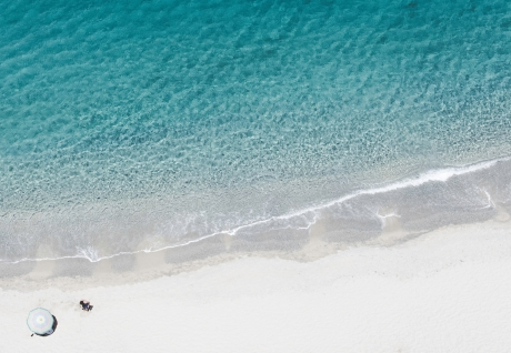 feiner Sandstrand Spiaggia Di Tropea, Kalabrien